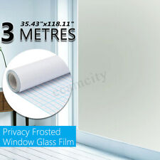 """36"""" x 10 FT Static PVC Frosted Privacy Home Decor Window Door Glass Tint Film"""