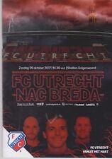 Programma / Programme FC Utrecht v NAC Breda 29-10-2017