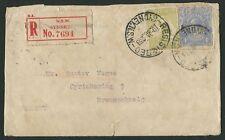 Kangaroos - 3rd Wmk - Jan.1923 usage of 3d Olive (Die 2b) + KGV 4d Ultramarine