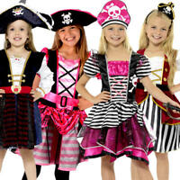 Caribbean Buccaneer Pirate Girls Fancy Dress Book Day Week Kids Childs Costume