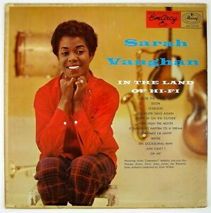 SARAH VAUGHAN In The Land Of Hi-Fi LP 1956 VOCAL/JAZZ VG++ NM-