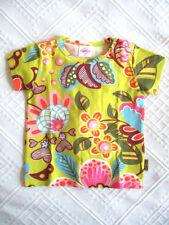 Mädchen-Tops, - T-Shirts mit Rundhals-Ausschnitt und Blumenmuster