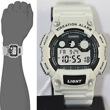Casio Super-Illuminator Vibration Alarm 10 Year Battery Watch W-735H-8A2V