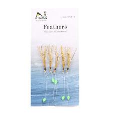 1/0 Sabiki Bait Rigs 5 Hook Saltwater Soft Fishing Lures Luminous Beads Feather