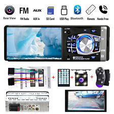 "4"" HD Car Radio Stereo Bluetooth AUX Head Unit Single 1 DIN MP5 Player +Camera"