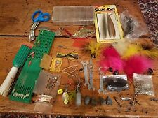 Huge lot of fishing lures, new and used: Slug Go, spinners, hooks, weights,