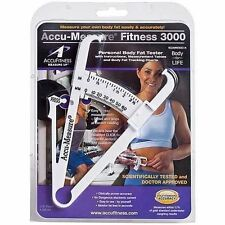 Accu Measure Fitness 3000 Personal Skinfold Caliper Bodyfat Tester - UK dispatch