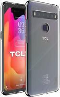 Para TCL 10 5G Funda,Silicona Transparente Carcasa Delgada Gel Móvil Funda +