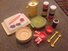 Vintage Tupperware Lot Harvest Colors Orange Green Gold Brown Bowls Spice Egg