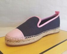 FENDI ESPADRILLES JUNIA JEANS 36 5 WOMAN CANVAS  SHOES SPRING SUMMER FLAT