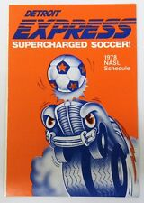 1978 DETROIT EXPRESS NASL SOCCER Bonanza pocket sked schedule MINT