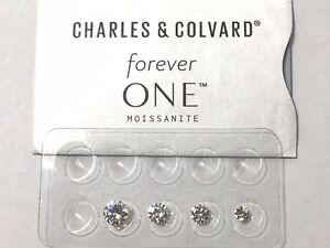 Forever One Near Colorless G H I Moissanite Rnd 1/4 - 2 ct loose Charles Colvard