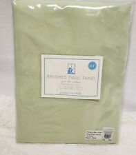"Pottery Barn Kids Light Green Brushed Twill Panel Drape 63""X44"" Curtain New"
