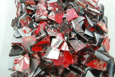 100 pieces of METALLIC RED SUPER DRAGONFLY Premium Glitter Glass Mosaic Tiles