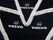 Set Of 3 pcs. Black Curtains With White Tassels  And Logo For VOLVO FH3/ FH4/ FM