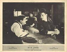 *STRAIGHT FROM THE SHOULDER (1921) Buck Jones at Saloon Bar Silent Film Western