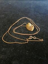 10K Gold Necklace With Hinged Heart Locket