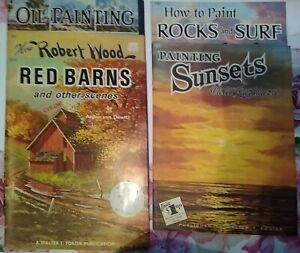 Lot of 5 Vintage Painting Instruction Books - Published by Walter Foster