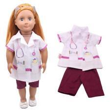 1Set New Summer Nurse UniformFor 18 Inch Girl Doll Clothes Supply