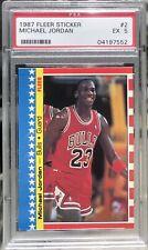 1987 Fleer Sticker Michael Jordan #2  PSA- EX 5