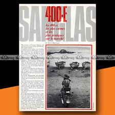 ★ SANGLAS 400 E ★ 1974 Article de Presse Essai Road Test Moto #b308