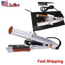 Professional 2-Way Wet To Dry Hot Rotating Iron Hair Brush Curler Straightener