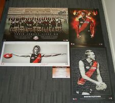 ESSENDON BOMBERS ANZAC HEPPELL WINGS WATSON FLETCHER 400 GAMES MOSIAC PRINT PACK