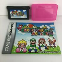 Super Mario Advance (Nintendo Game Boy Advance, 2001) W/ Game, Manual & Case