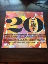 "20 TOP POP SONG HITS RCORDED IN ENGLAND 12"" 33 RPM LP"