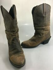 Durango Womens 6.5 Brown Leather Slouch Distressed Cowboy Western Boots RD 542