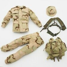 "1/6 Scale Soldier Clothes Set Desert Camo Outfit For 12"" Military Action Figure"