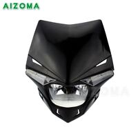 Motorcycle Street Fighter Dirt Bike Vision Headlight Front Lamp Universal Fit