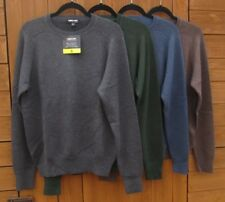 Mens Jumper Sweater Merino Wool Blend, Kirkland Signature Small 4 Colours BNWTs