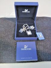 Swarovski Silver Brooch with gold key, Eskimo, Star & Heart NEW w/ Box, COA TAG