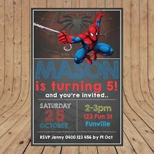 Personalised DIGITAL SPIDERMAN Kids Birthday Party Invites Invitations YOU PRINT