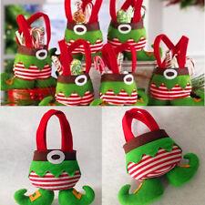1pcs Sac Poche Elf Esprit Pantalon Bonbons Santa Décor Noël Fête Enfant Cadeau