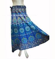 Indian Cotton Women Ethnic Floral Rapron Printed Long Skirt Wrap Around Skirt 01