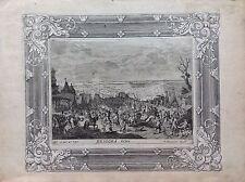 Appostamento militare BRIGORA acquaforte XVIII sec A JOSEPH PRENNER AUSTRIA