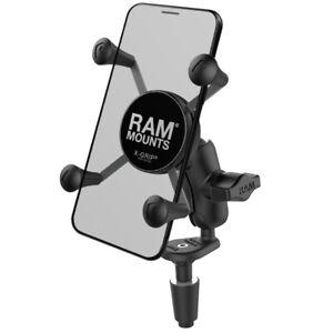 RAM Motorcycle Fork Stem Mount w/ Short Arm & X-Grip Holder for Cell Phone, GPS