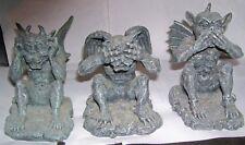 3 piece Gargoyle Demon figures Hear No Evil See No Evil Speak No Evil poses