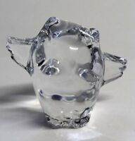 Baccarat Glass Crystal Paper Weight Small Owl with Wings