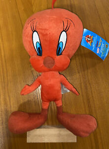 """Looney Tunes RED """"Tweety Bird"""" Stuffed Animal 15"""" New With Tags"""