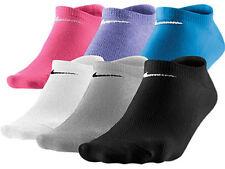 New Nike Women 6 Pair No-Show Socks Mix 6-10 M Medium SX4129-964 Tennis Running