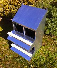 "FAMOUS 4-HOLE ""ROLL-AWAY"" CHICKEN / HEN NEST BOX (FOR UP TO 20 CHOOKS / Poultry)"