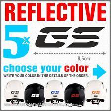 5x GS Reflective Black BMW R1200 R1150 F800 F650 F700 ADESIVI PEGATINA STICKERS