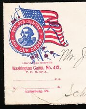 Patriotic Order Sons of America Rainsburg Camp 1904 PA Cover 6x