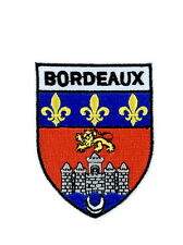 patch ecusson brode thermocollant drapeau blason armoirie bordeaux  embleme
