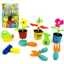 Plastic Gardening Tools Kit for Baby Kids Garden Play Toys Funny Pretend Toy