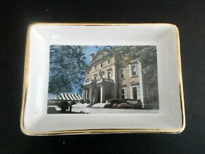 Vintage Sleepy Hollow Country Club NY Fine Key Tip Plate Trinket Dish Clubhouse