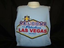 Las Vegas Welcome Sign Gildan Light Blue T-Shirt L Cotton Large